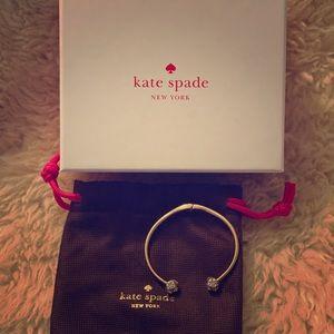Kate Spade pavé hinged bracelet